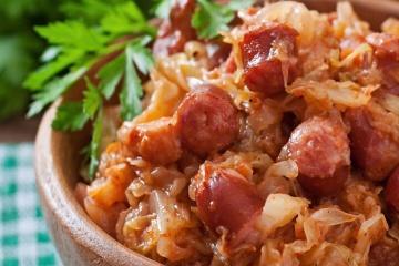 Sauerkraut & Sausage Bake