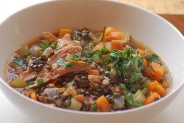Lentil Soup & Smoked Ham Hock