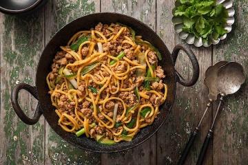 Pork Noodle Stir Fry